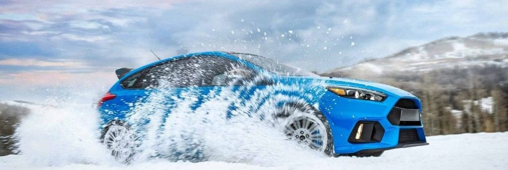 2018 Ford Focus RS Driving Through Snow