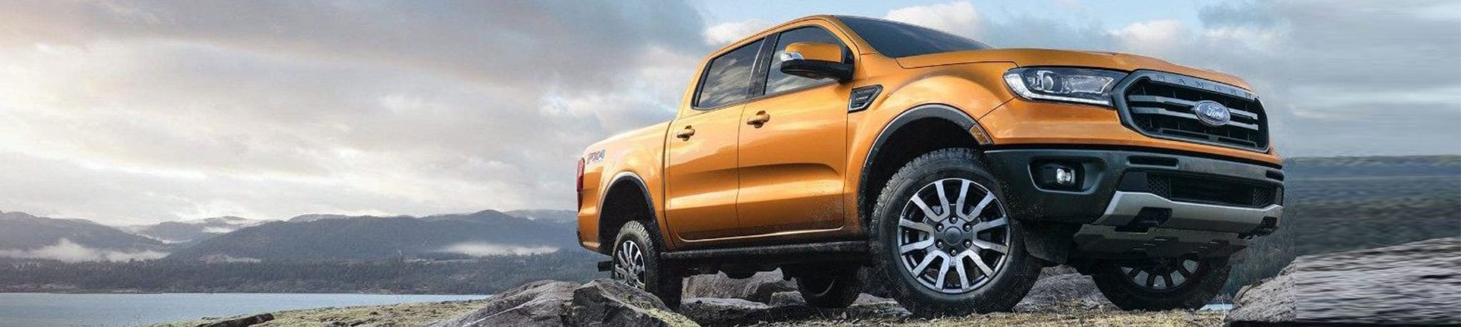 Orange 2019 Ford Ranger on Terrain