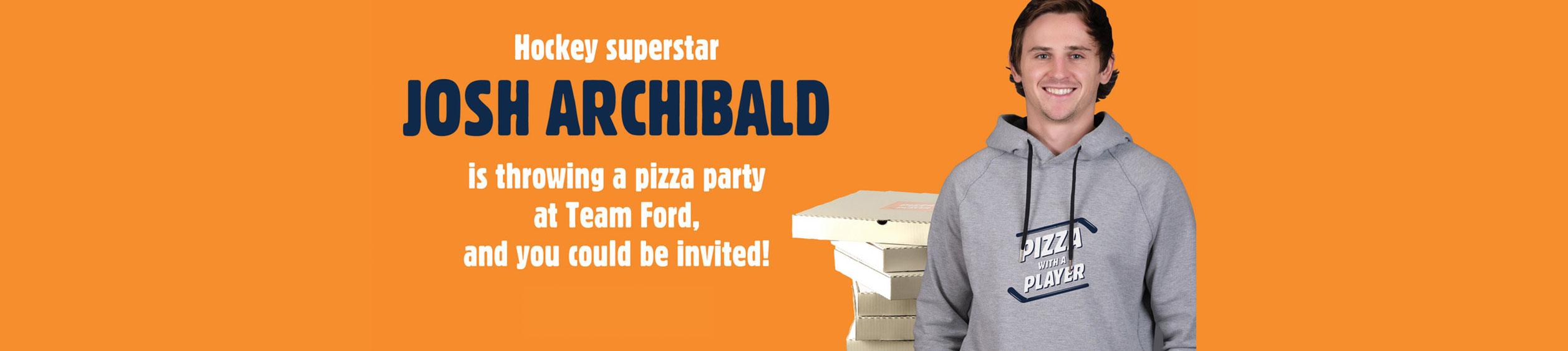 Your Minor Hockey Team Could Win a Pizza Party with JOSH ARCHIBALD!