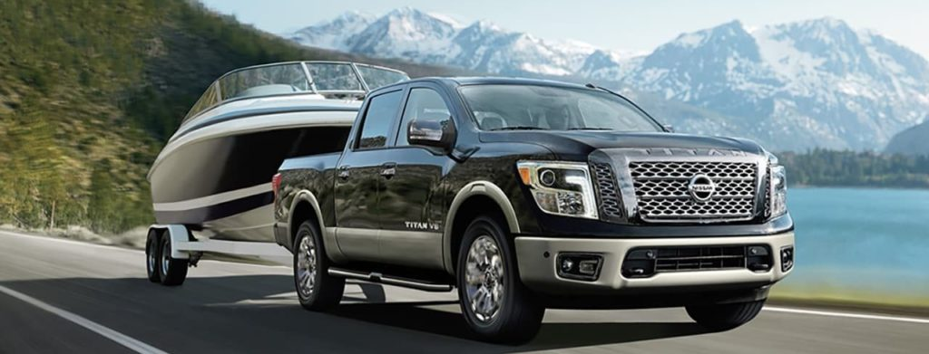 2019 nissan titan towing a boat