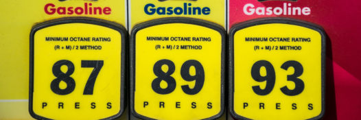 at the gas pump yellow buttons and octane ratings on fossil fuel petrol gasoline