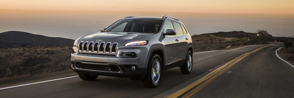Jeep Cherokee driving on the open road