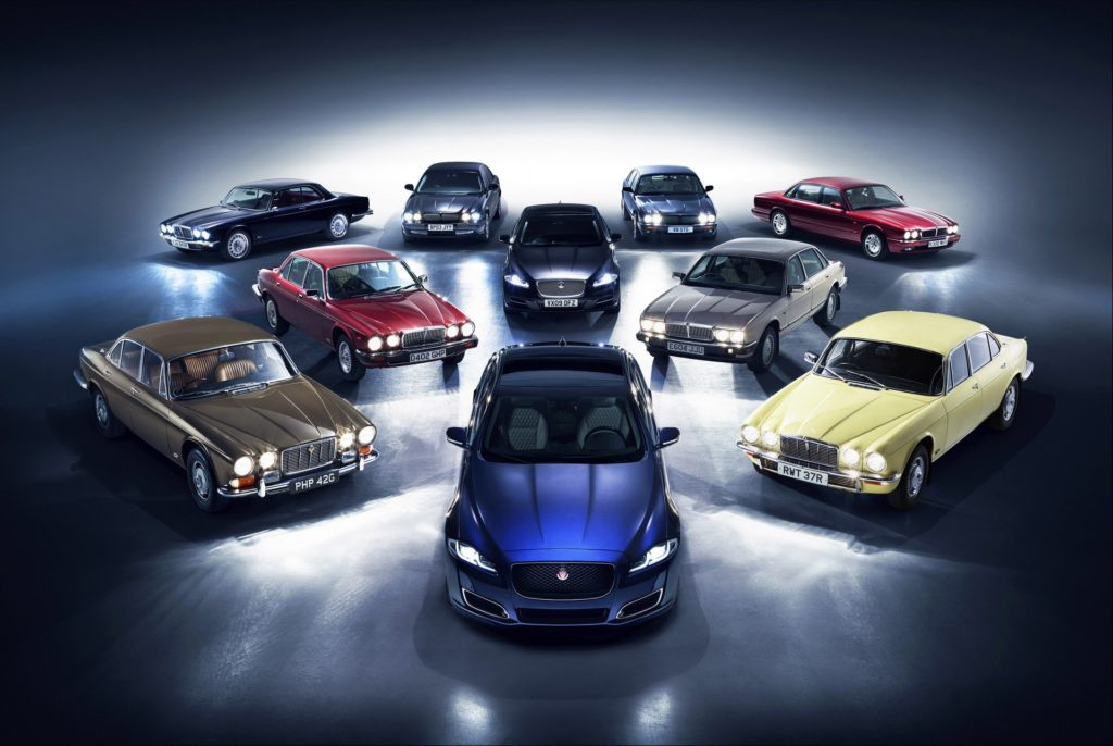 Eight generations of Jaguar XJs will travel to Paris