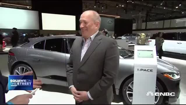 CEO of Jaguar Land Rover North America Joe Eberhardt on electric vehicles