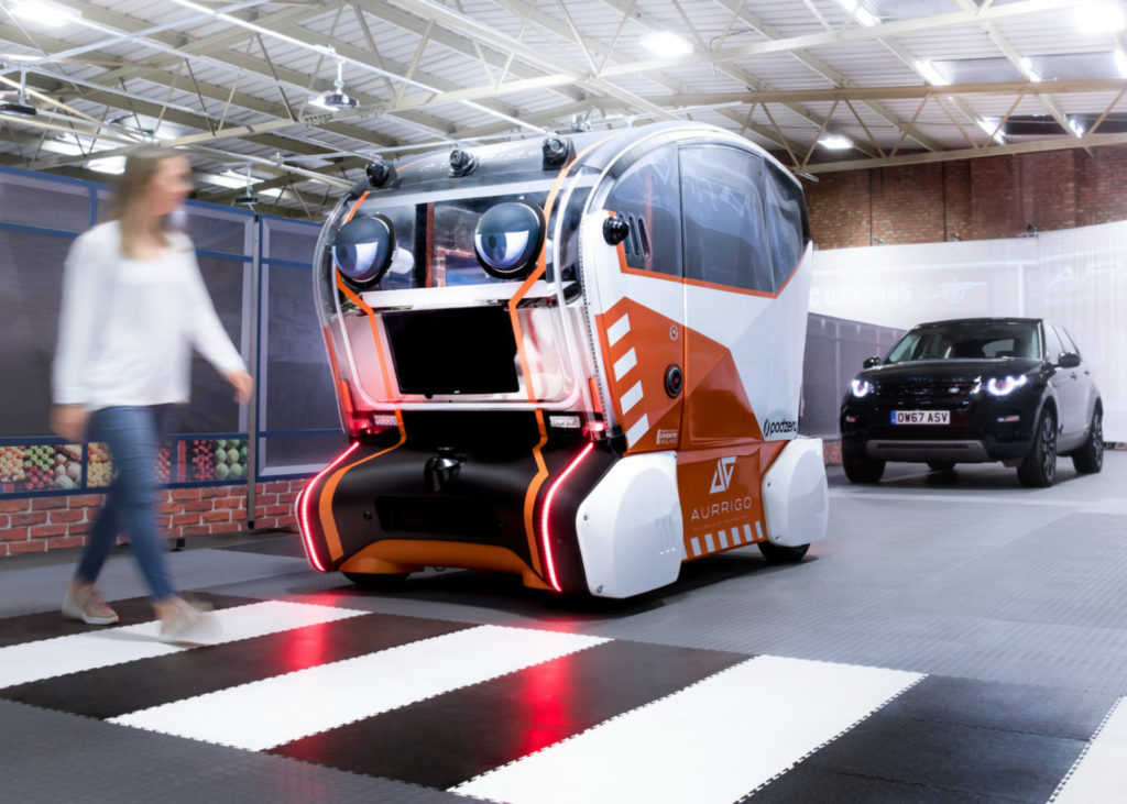 JLR has produced a robot that watches as you cross the road