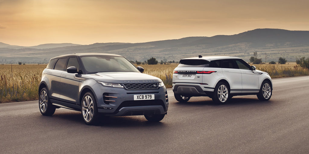 2020 Range Rover Evoque en route to Chicago
