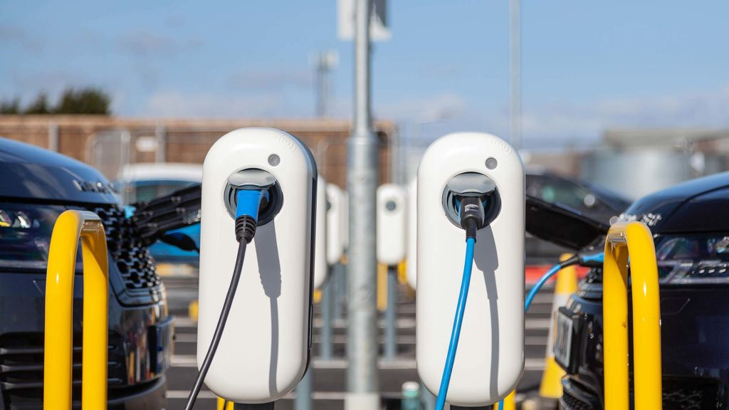 Plugged in: Jaguar Land Rover installs UK's largest smart charging facility for EVs