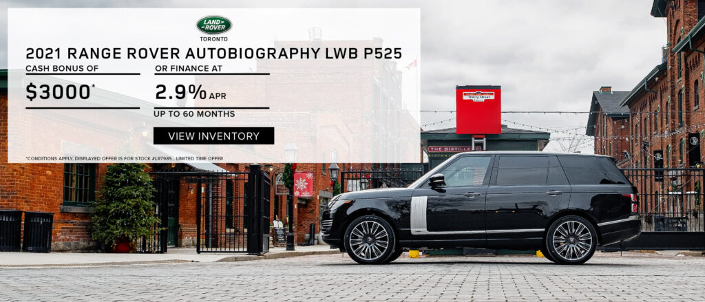 2021 Range Rover Autobiography at $3000 Cash Bonus