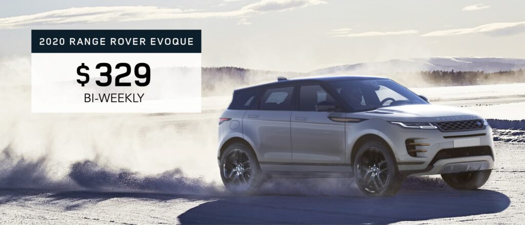 2020 Range Rover Evoque January Offer Graphic