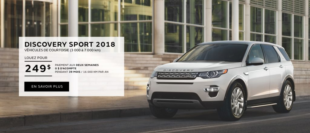 Discovery Sport Courtoisie