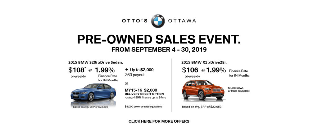 Pre-owned Sales Event September 2019