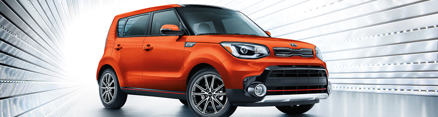 2018 Orange Kia Soul Front Passenger Side View