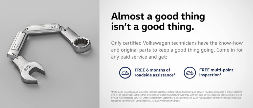 Volkswagen Service Offer - Maple Volkswagen