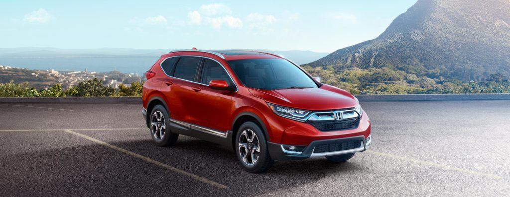 2019 honda cr-v in a picturesque parking lot