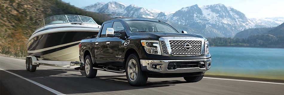 2018 Nissan Titan towing a boat