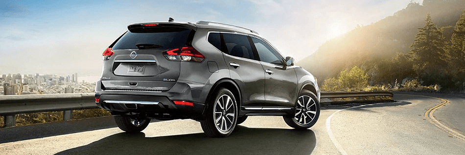 2020 Nissan Rogue SL AWD parked on a highway