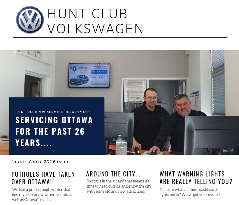 Hunt Club VW Newsletter – April Edition