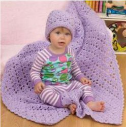 One Ball Baby Blanket  Hat
