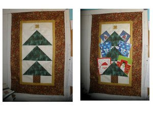 Easy Quilted Christmas Tree Card Holder