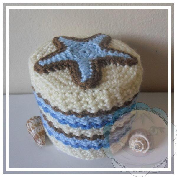 Starfish Crochet Toilet Paper Roll Cover