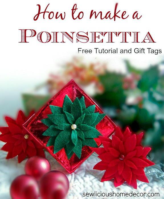 Felt Poinsettia Gift Topper