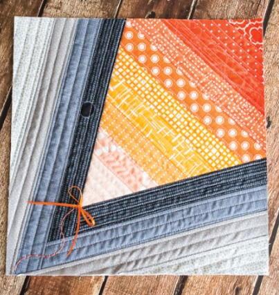Scrappy Denim Kite Quilt Block