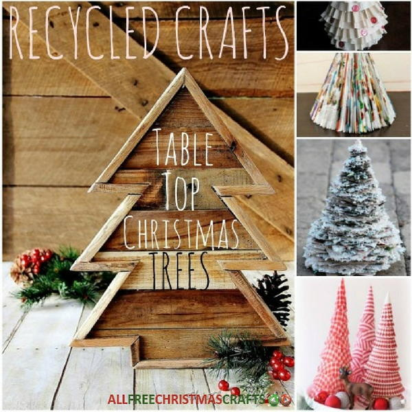 Recycled Crafts 24 Table Top Christmas Trees