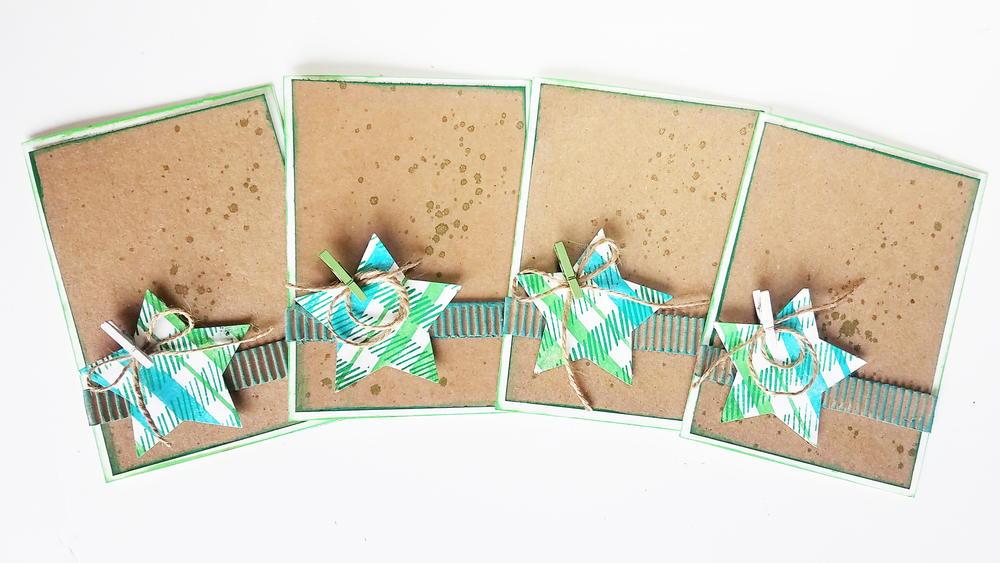 Rustic Stars DIY Christmas Card Holder