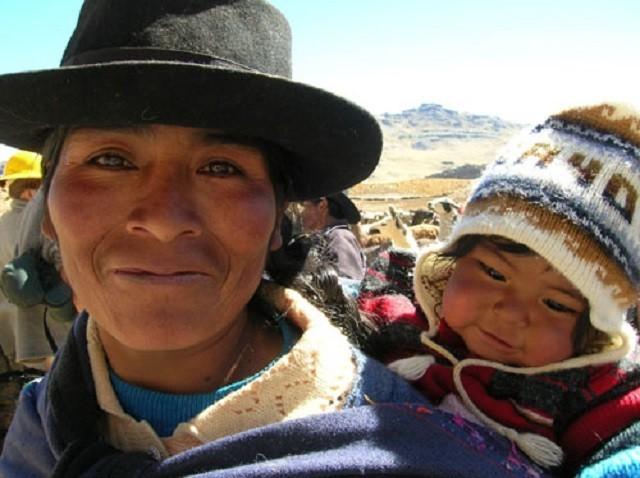 femme enfant quechua