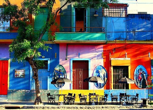 Une ruelle calme de Buenos Aires, Argentine