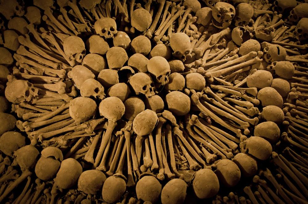 Les catacombes de l'église San Francisco
