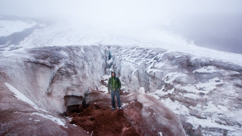 Vous pouvez marcher jusqu'au début de la couche de glace au sommet. À partir de cet endroit, seuls les alpinistes peuvent continuer jusqu'à Cotopaxi.