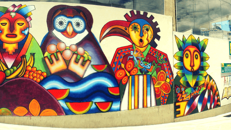 Fresque peinte par Roberto Mamani Mamani - Edwin Velasquez : Flickr