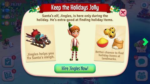 Santas Crash Landing FarmVille Tropic Escape