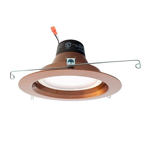 green watt 5 or 6 dimmable led recessed lighting 18watt retrofit bronze reflector trim 4000k dl6dwp 18w 4000k orb