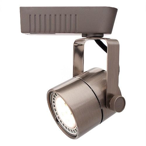satin mini round mr16 low voltage track light fixture