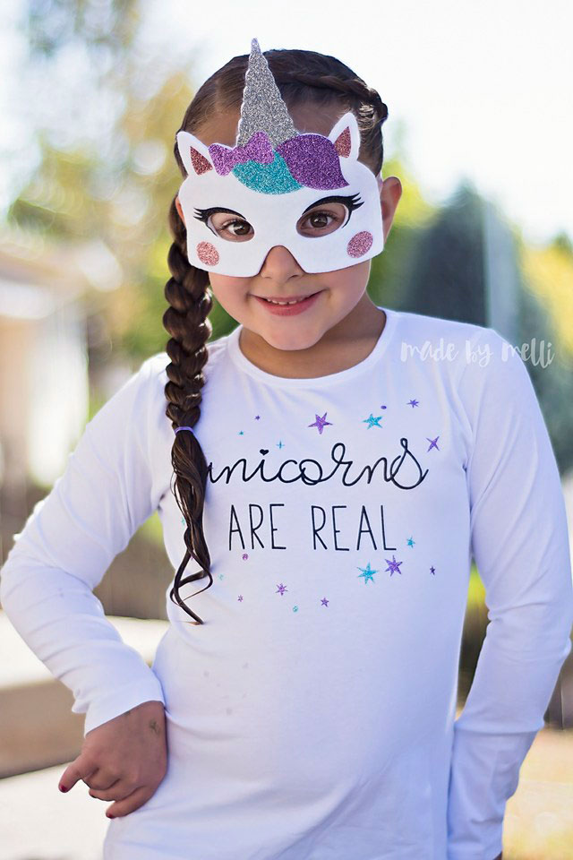 Be a unicorn for Halloween with this mask