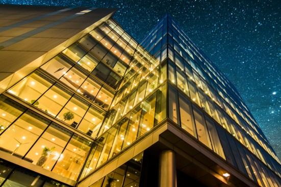 Office building representing Schneider smart buildings