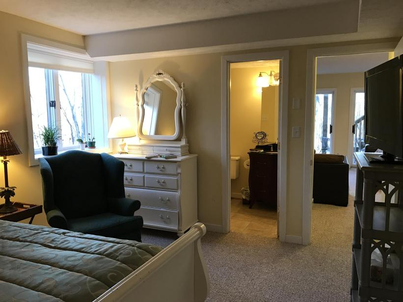1st floor bedroom with full bath off the family room