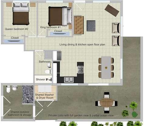 Floor plan of the PAPAYA 2