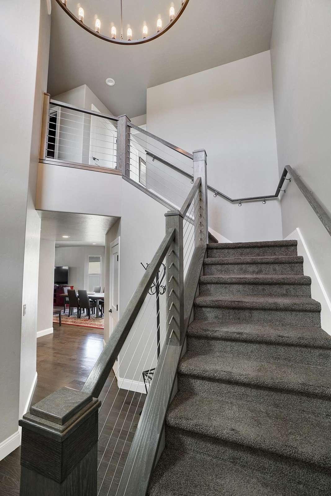 Hawk House II Entryway Staircase
