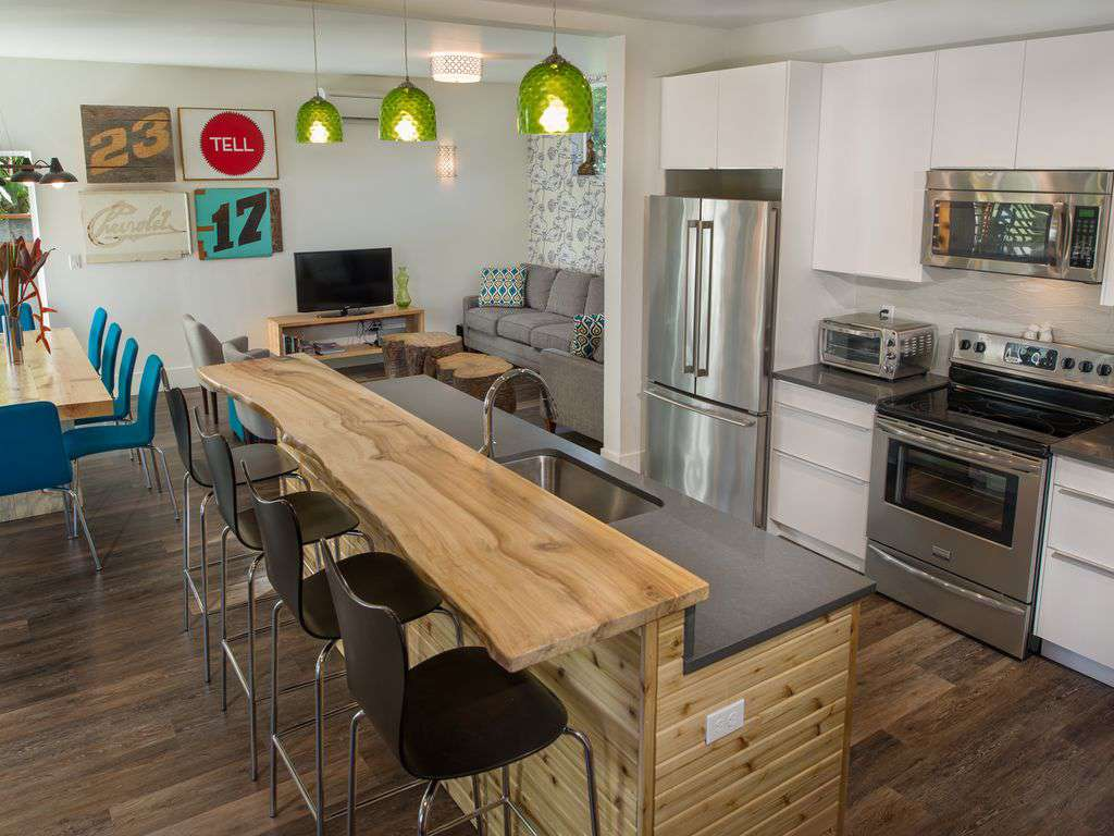Open living, dining & kitchen make this rental an ideal one for large groups!