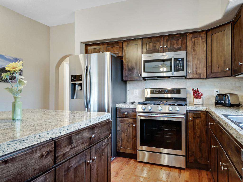All modern stainless steal appliances.