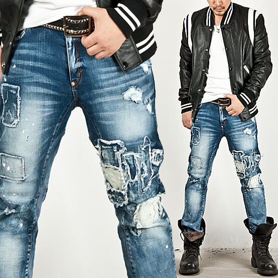 Bottoms SOLD OUT Heavy Distressed Accent Vintage