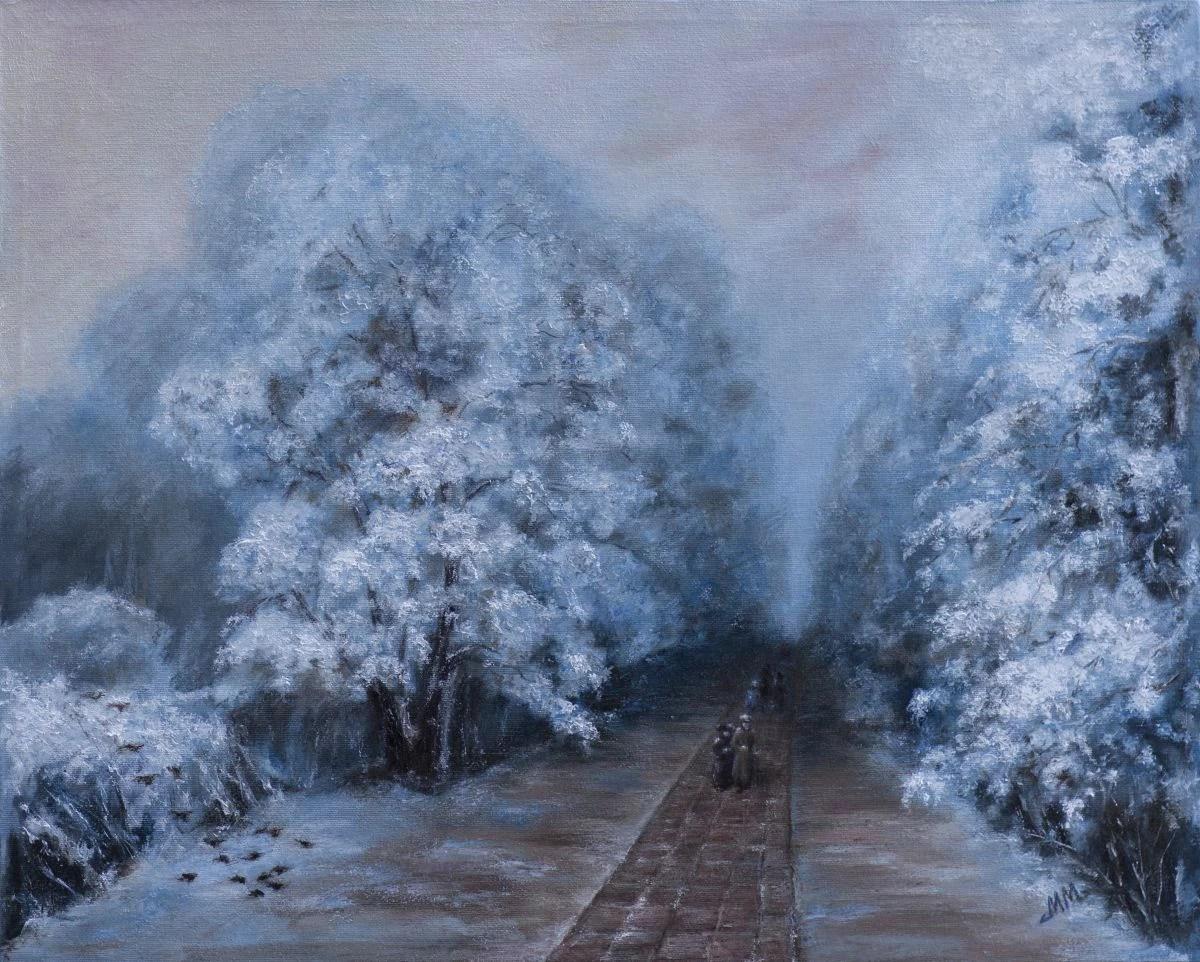 Winter Park Inspired By Ivan Aivazovsky 2016 Oil