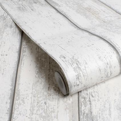papier peint intisse decomode bois blanc