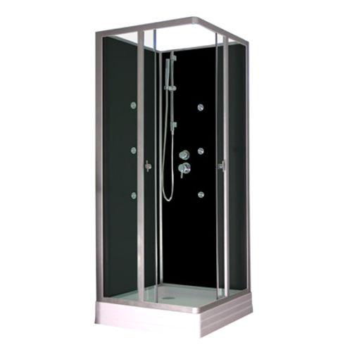 cabine de douche aurlane platine hydromassage 80 x 80 cm