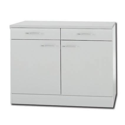 armoire basse cuisine jaka klassik50 blanc 100 cm