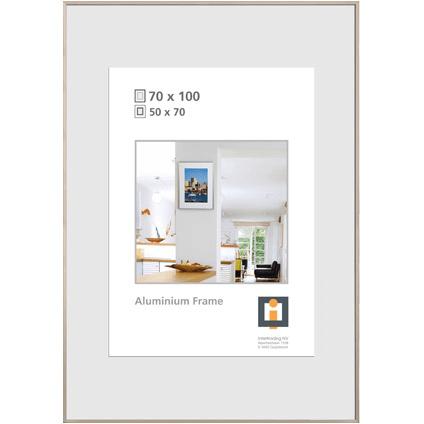 cadre photo intertrading argente 70 x 100 cm