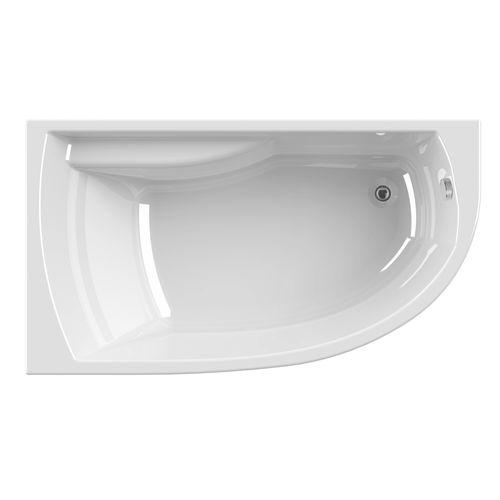baignoire asymetrique allibert diva droite pour gain de place 160x90x53 54 5cm blanche